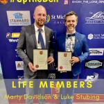 Life Members 2020 - Luke and Marty